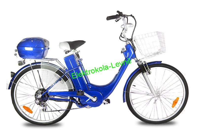 "Elektrokolo City Bike 26"" modré"