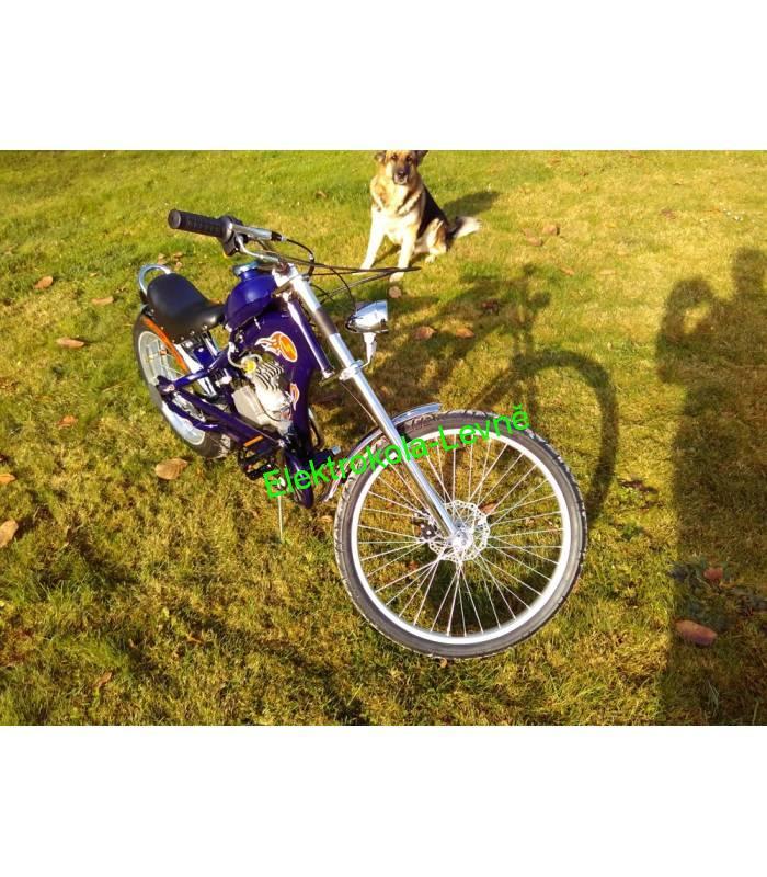 abb9b9bc96b Moto kolo - motorové kolo Chopper 80cc modré