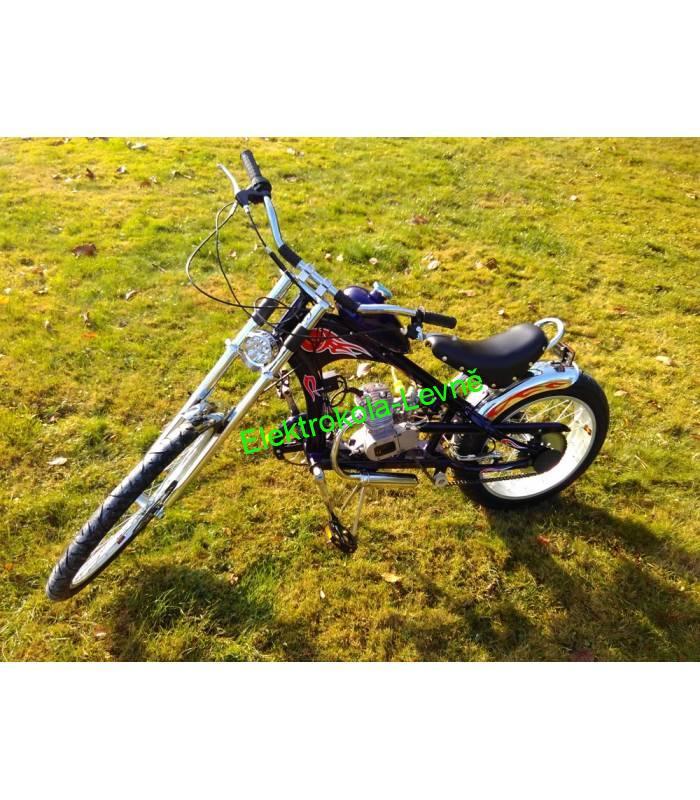 70188c45269 Moto kolo - motorové kolo Chopper 80cc modré
